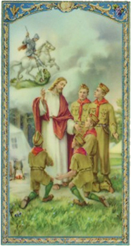 Boy Scout Holy Card
