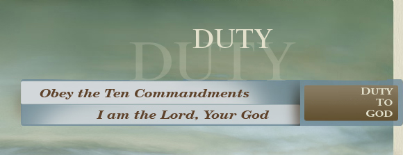 Duty - Duty to God